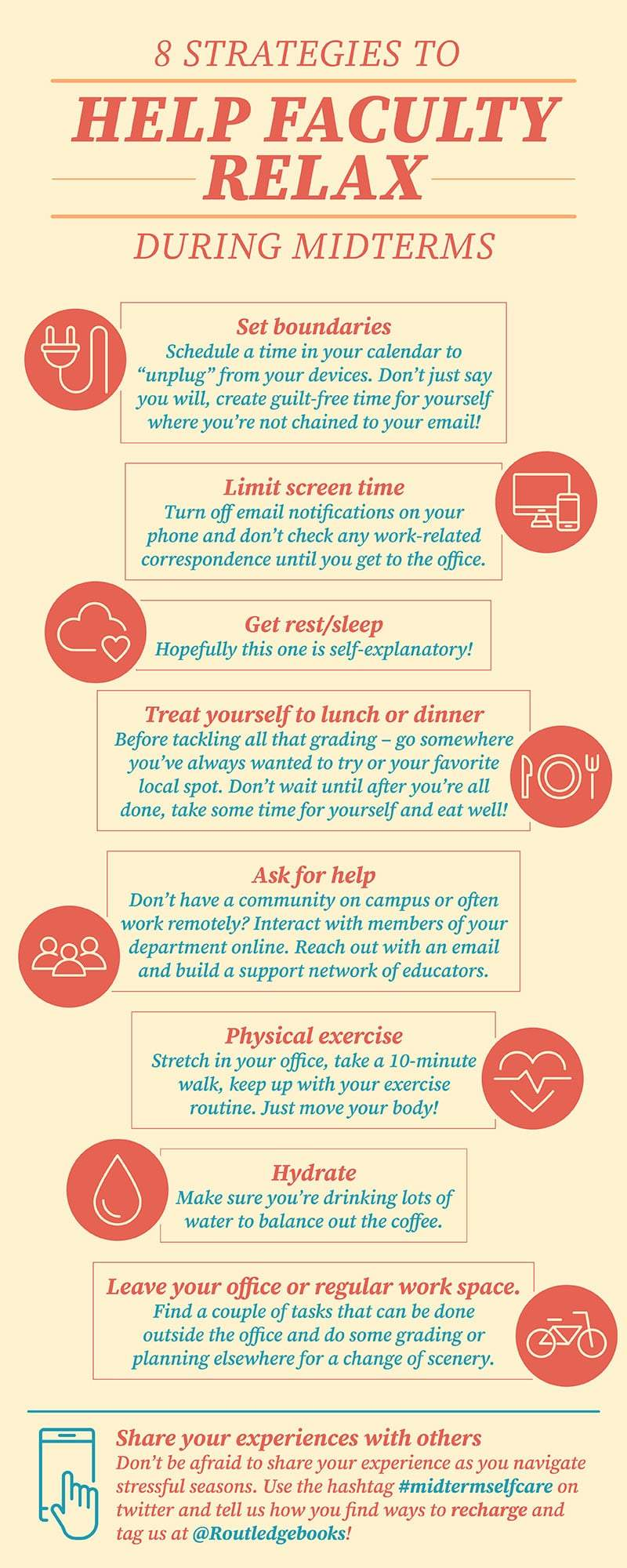8 Strategies to Help Faculty Relax During Midterms Infographic