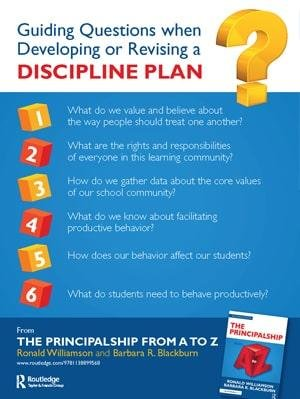 Guiding Questions when Developing or Revising a Discipline Plan Free Resource Cover