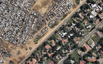 Birds eye view of Johannesburg