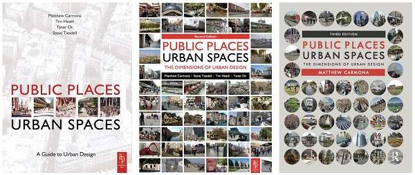Evolution of public places urban spaces book cover