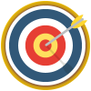 an archery target with an arrow in the centre