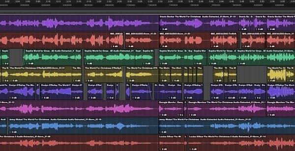 snapshot of audio edits