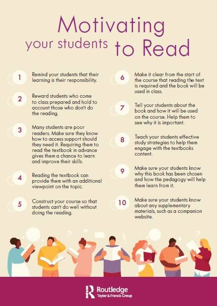 Motivating your students to read tipsheet