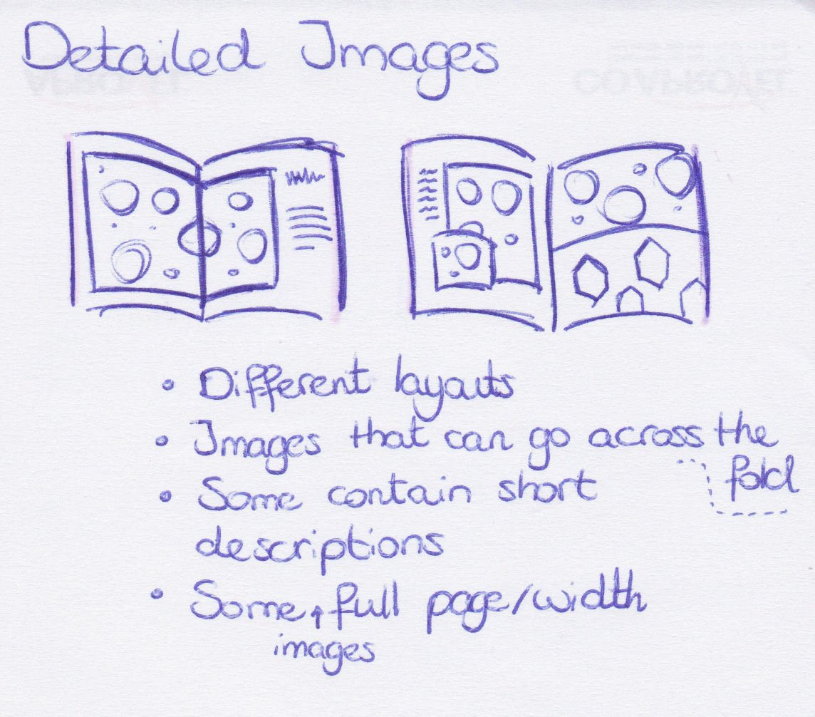 Data sketches - Detailed images section