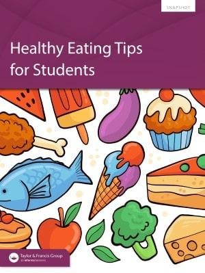 Healthy eating tips for students book cover image