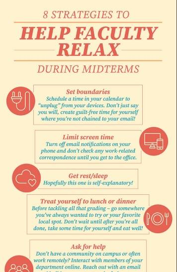 8 Strategies to Help Faculty Relax