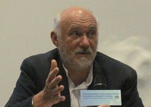 Sharing knowledge at a conference in Hong Kong, 2012